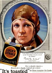 Lucky Strike, Амелия Эрхарт